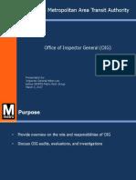 Office of Inspector General Presentation
