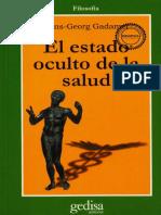 1. Hans Georg Gadamer El Estado Oculto de La Salud