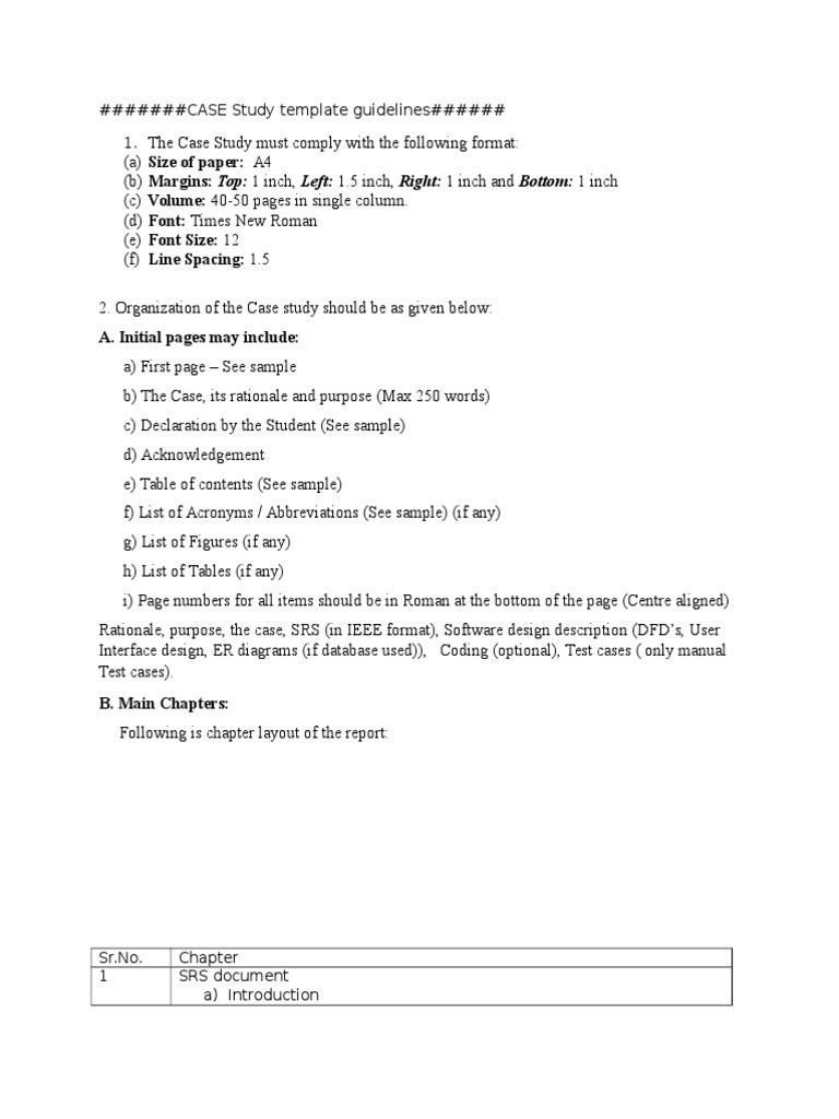 CASE Study Template Guidelines | Ellipsis | Letter Case
