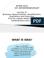 L2 - Developing Successful Entrepreneurial Idea New