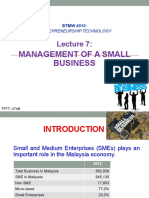 L7 - Management of a Small Business & Managing Ent Growth