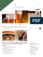 Sándwich de Pollo, Champiñones y Queso