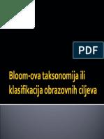 Bloom-ova Klasifikacija Obrazovnih Ciljeva i i Shoda
