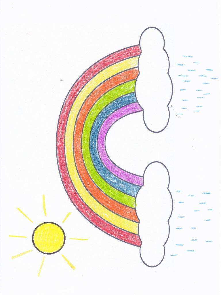 Tęcza Wzór Do Kolorowania
