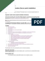 InfoSphere Information Server Patch Installation