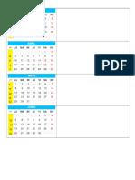 Calendario 2017 Con Semanas Academicas