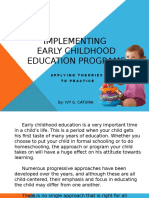 Early Childhood Programs in the Philippines