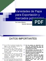 Variedades de Papa Para Exportacion y Mercados Portenciales Carlos Moreno