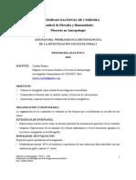 Programa 2013 Pizarro Metodología de la investigación antropológica I