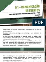 Módulo 1 – Comunicação de Eventos