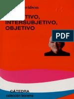 Davidson Donald Subjetivo Intersubjetivo Objetivo Copia