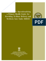 Guidelines for Operationalising 24 Hours Functioning Phcs