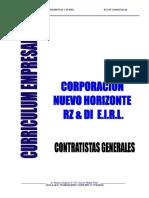 Curriculum Nuevo Horizonte 2015
