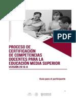 Guia General Proceso Certificacion 2016 a COSDAC UDG
