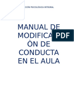 Modificación de Conducta- Aula