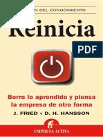 Reinicia - J. FRIED y D.H. Hansson