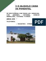 Casa en Pimentel