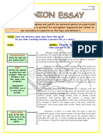Opinion Essay Lay Out