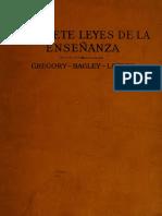 Las Siete Leyes de La Ensenianza Gregory Bagley Layton