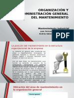 Organización y Administración General Del Mantenimiento