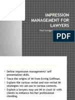 Impression Management for Lawyers