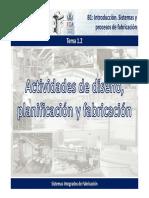 1.2. Actividades de Diseño, Planificación y Fabricación