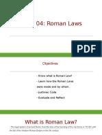 roman laws ppt