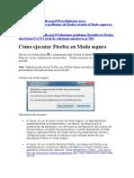 Restaurar Firefox y Safe Mode