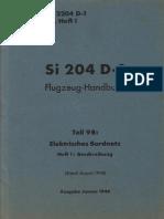 (1944) D.(Luft) T.2204 D-1 Teil 9B, Heft 1 - Si 204 D-1 Flugzeug-Handbuch Teil 9B