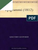 Epigrammi (1812) (Italian Edition) - Leopardi, Giacomo