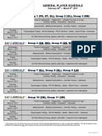 2017 NFL Scouting Combine Player Schedule