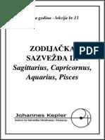 T-13-C Sagittarius, Capricornus, Aquarius, Pisces