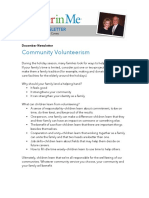 december - community volunteerism