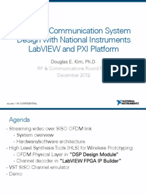 Wireless Communication System Design With National Instruments Labview And Pxi Platform Field Programmable Gate Array Orthogonal Frequency Division Multiplexing