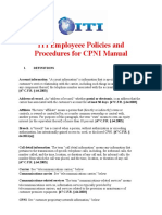 ITI CPNI Employee Manual3.doc