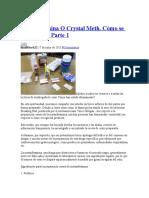 Metanfetamina O Crystal Meth