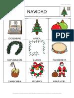 Bingo Navidad 2 Cartones 3x3