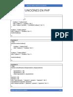 Funciones en PHP