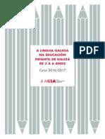 A lingua galega na educación infantil