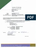 HeartSine 350P Pak-Pak Pediatric Declaration of Conformity