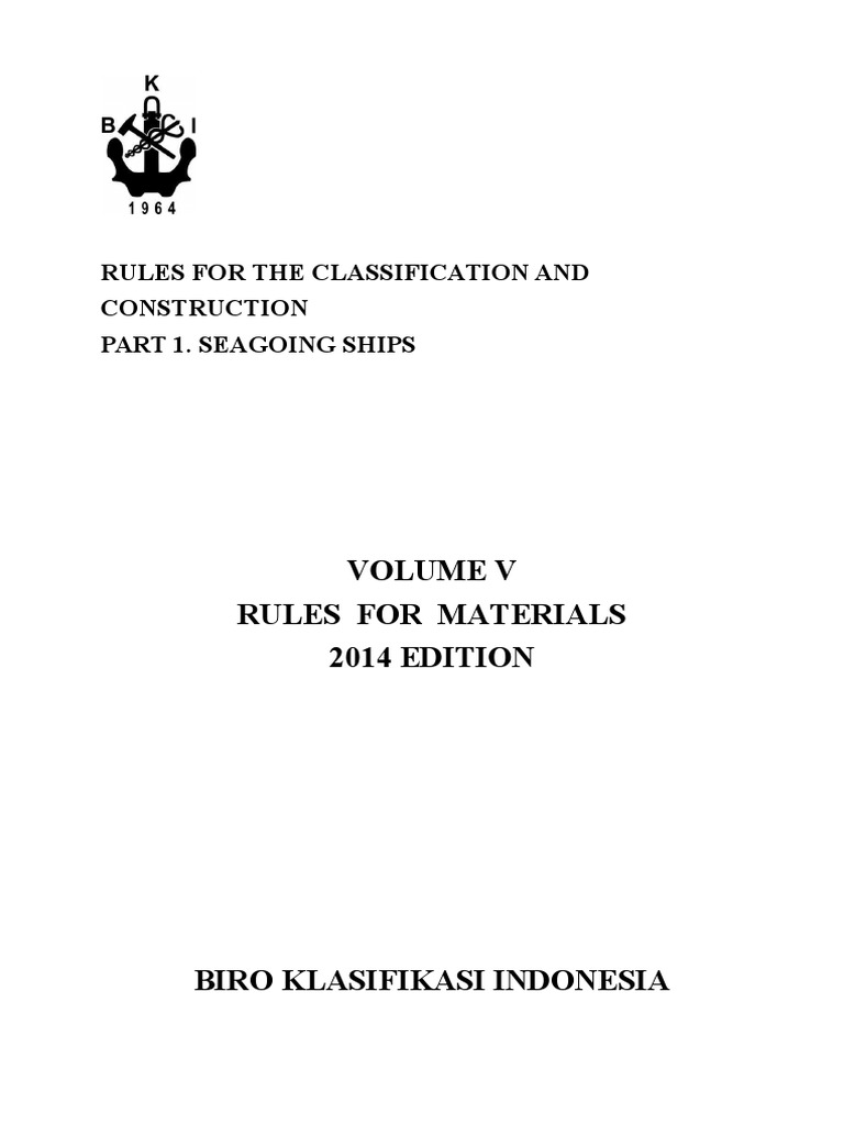 Vol V ),2014 Rules for Materials,2014-1.docx | Heat Treating | Steel