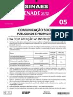 ENEM 2012 - 05 Com Social Publicidade