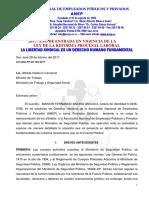 Carta al Ministro de Trabajo Alfredo Hasbum Camacho