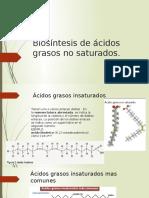 Biosíntesis de Ácidos Grasos No Saturados
