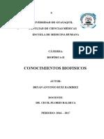Conocimientos Biofisicos - Bryan A. Ruiz R.