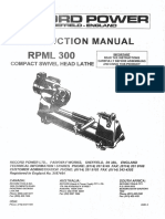 Lathe Record RPM300C Manual