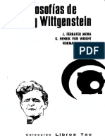 Las Filosofias de Ludwig Wittgenstein - Jose Ferraa & G. H. Von Wright & Norman Malcolm & David Pole