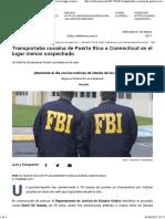 Transportaba Cocaína de Puerto Rico a Connecticut en El Lugar Menos Sospechado