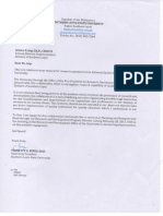 Letter Response of SLSU