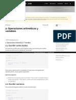 1Operaciones Aritmeticas y Variables1